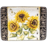 Certified International French Sunflowers Rectangular Serving Platter