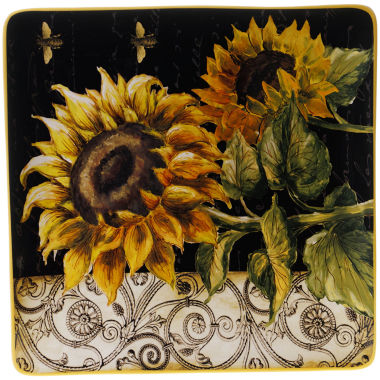 "jcpenney.com | Certified International French Sunflowers 14½"" Square Serving Platter"