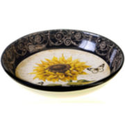 French Sunflowers Serving Bowl