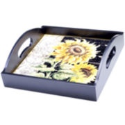 Certified International French Sunflowers Serving Tray with Handles