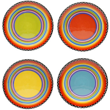 jcpenney.com | Certified International Tequila Sunrise Set of 4 Salad Plates