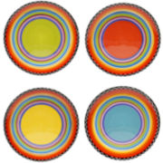 Tequila Sunrise Set of 4 Salad Plates