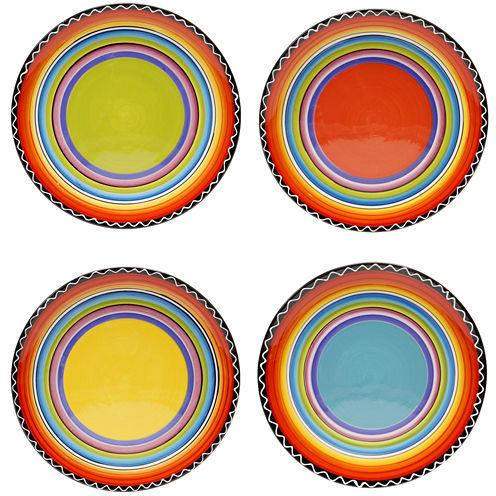 Certified International Tequila Sunrise Set of 4 Salad Plates