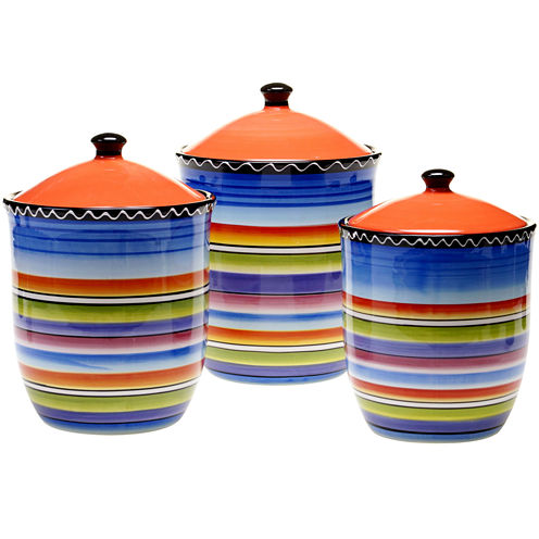 Certified International Tequila Sunrise 3-pc. Canister Set