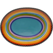 Certified International Tequila Sunrise Oval Serving Platter