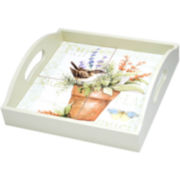 Herb Garden Serving Tray with Handles