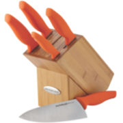 Rachael Ray® 6-pc. Japanese Stainless Steel Knife Block Set