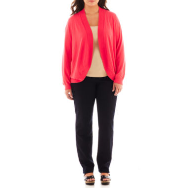 jcpenney.com | Liz Claiborne® Cardigan Sweater or Orginal-Fit Tapered-Leg Jeans - Plus