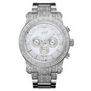 JBW Mens Silver Silver Tone Bracelet Watch
