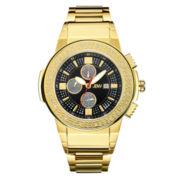 JBW Mens Black Gold Tone Bracelet Watch