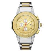 JBW Mens Gold Silver Tone Bracelet Watch