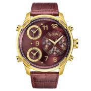 JBW Mens Red Rose Goldtone Bracelet Watch