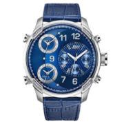 JBW Mens Blue Blue Bracelet Watch