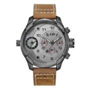 JBW Mens Gray Brown Bracelet Watch