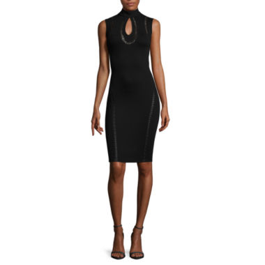 jcpenney.com | Bisou Bisou® Sleeveless Keyhole Lacing Bodycon Dress