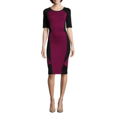 jcpenney.com | nicole by Nicole Miller® Elbow-Sleeve Colorblock Dress