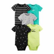 Carter's® 5-pk. Short-Sleeve Black Cotton Bodysuits - Baby Girls newborn-24m