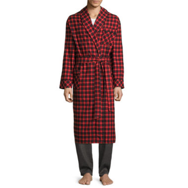 jcpenney.com | Stafford® Flannel Robe - Big & Tall
