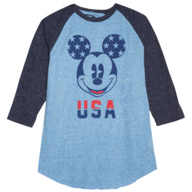 jcpenney.com | Novelty Season 3/4 Sleeve Mickey Mouse Graphic T-Shirt