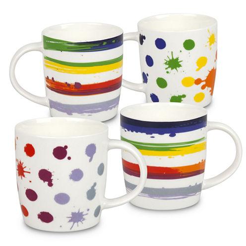 Konitz VIVA Dots and Stripes, Set of 4 Coffee Mugs