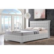 Baxton Studio Monaco Faux-Leather Platform Bed