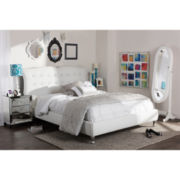 Baxton Studio Erin Faux-Leather Platform Bed