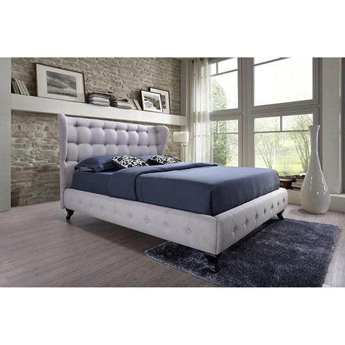 Baxton Studio Bellissimo Upholstered ButtonTufted Platform Bed