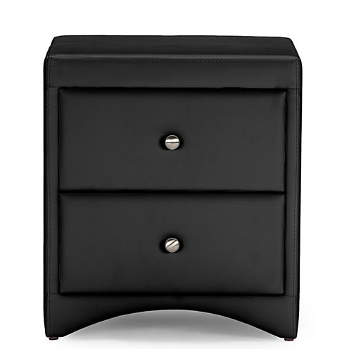 Baxton Studio Dorian Faux-Leather Upholstered Modern Nightstand