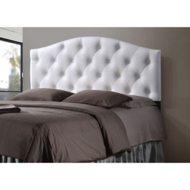 jcpenney.com | Baxton Studio Myra Faux-Leather Upholstered Button-Tufted Scalloped Headboard