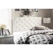 Baxton Studio Viviana Faux-Leather Upholstered Button-Tufted Headboard