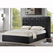 Baxton Studio Prenetta Modern Bed with Upholstered Headboard