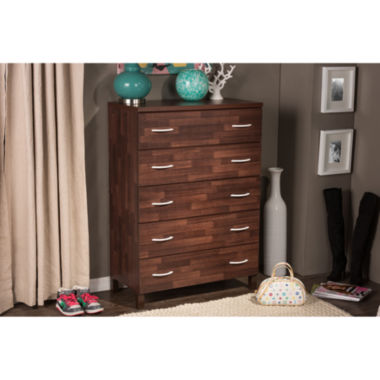 jcpenney.com | Baxton Studio Maison 5-Drawer Wood Chest