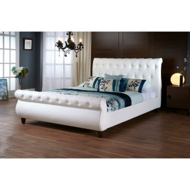 jcpenney.com | Baxton Studio Ashenhurst Sleigh Bed with Upholstered Headboard