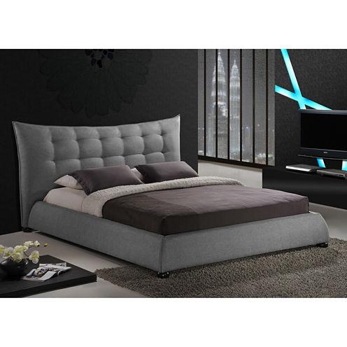 Baxton Studio Marguerite Linen Modern Platform Bed