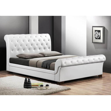 jcpenney.com | Baxton Studio Leighlin Modern Sleigh Bed with Upholstered Headboard