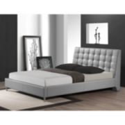Baxton Studio Zeller Faux-Leather Upholstered Bed