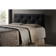 Baxton Studio Dalini Faux-Leather Headboard with Faux Crystal Buttons