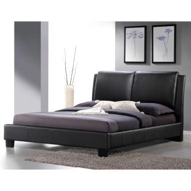 jcpenney.com | Baxton Studio Sabrina Modern Bed with Overstuffed Headboard