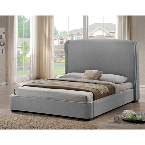 Baxton Studio Sheila Modern Upholstered Linen Bed