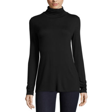 jcpenney.com | BELLE + SKY™ Long-Sleeve Turtleneck