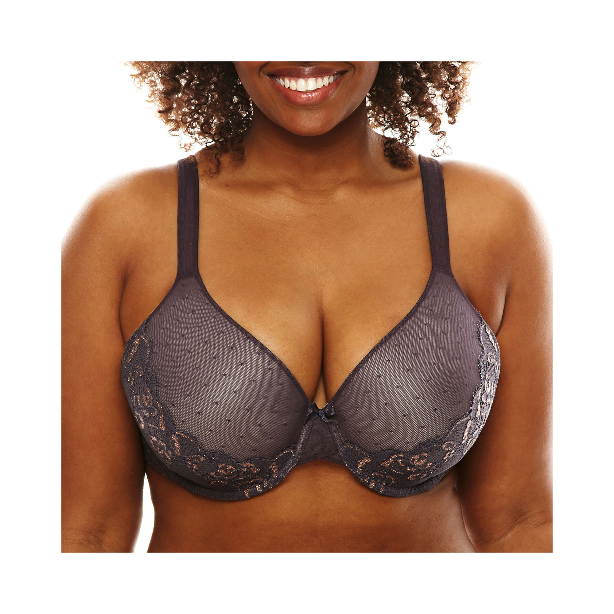 Ambrielle Point D'Espirit Everyday Full-Figure Full-Coverage Bra plus size,  plus size fashion plus size appare