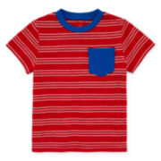 Okie Dokie® Short-Sleeve Ringer Cotton Tee - Baby Boys newborn-24m