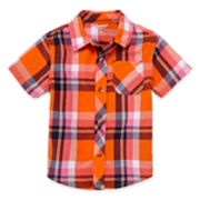 Arizona Short-Sleeve Plaid Woven Cotton Shirt - Baby Boys 3m-24m
