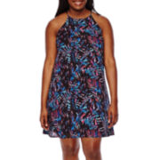 Decree® Sleeveless Swing Dress - Juniors Plus