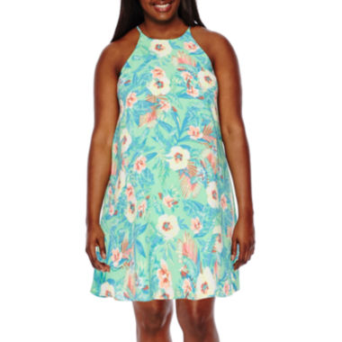 jcpenney.com | Decree® Sleeveless Swing Dress - Juniors Plus