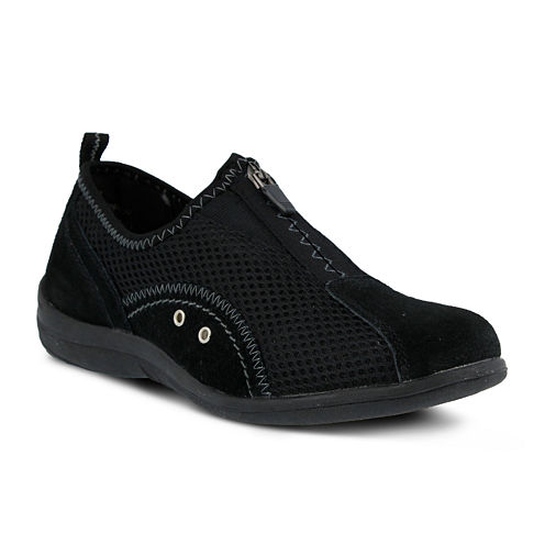 Spring Step Womens Racer Slip-On Zip Shoes