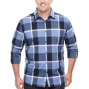 Claiborne® Modern Long-Sleeve Woven Cotton Shirt - Big & Tall