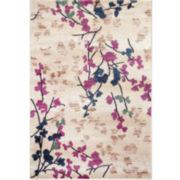 World Rug Gallery Loft Blossoms Rectangular Accent Rug