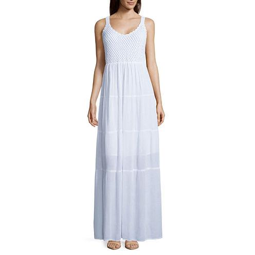 Studio West Sleeveless Crochet-Top Maxi Dress - Tall
