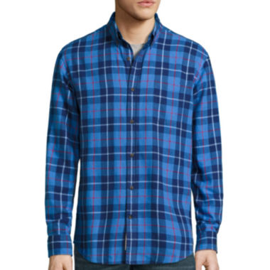 jcpenney.com | St. John's Bay® Long-Sleeve Classic-Fit Plaid Flannel Shirt